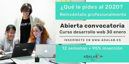 Sesión informativa curso de enero de programación front-end de Adalab