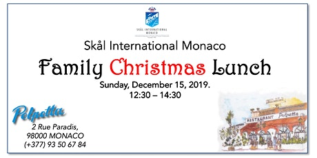 Skål Intl. Monaco Christmas Lunch tickets