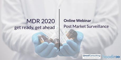 Webinar Qmed consulting. MDR 2020 & Post Market Surveillance tickets