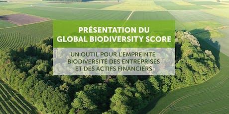 Présentation du Global Biodiversity Score billets