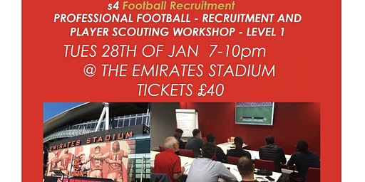 PROFESSIONAL FOOTBALL - PLAYER RECRUITMENT AND SCOUTING WORKSHOP - LEVEL 1