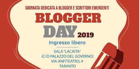 Blogger Day 2019 biglietti