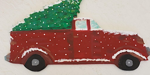 Holiday Paint Party -Christmas Truck and Tree