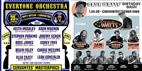 DUAL VENUE: Everyone Orchestra (BALLROOM)   Dave Watts' Bday (OTHER SIDE) tickets