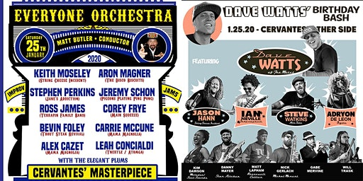 DUAL VENUE: Everyone Orchestra (BALLROOM) | Dave Watts' Bday (OTHER SIDE)