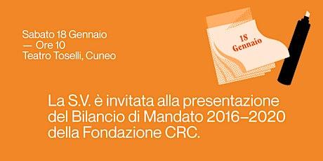 Presentazione del Bilancio di Mandato 2016-2020 biglietti