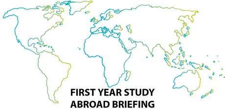 First year study abroad briefing tickets