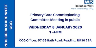 Primary Care Commissioning Committee (PCCC) - 8 January 2020