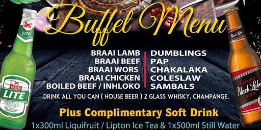 END OF THE YEAR, SOUTHERN AFRICAN BUFFET