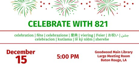 Celebrate With 821 tickets