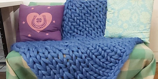 Arm Knit Throw workshop, Rochester, Kent