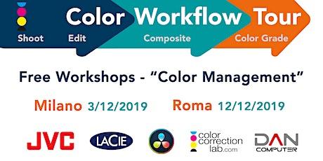 Color Workflow Tour 2019 - Roma biglietti