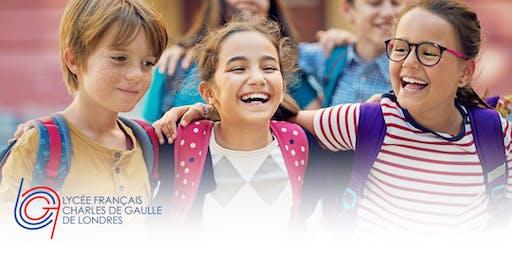 Portes ouvertes/Open Day 2020 - Lycée Français Charles de Gaulle de Londres