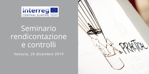 Seminario rendicontazione e controlli Programma Interreg CENTRAL EUROPE