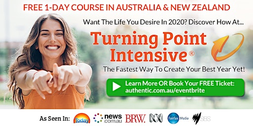 Turning Point Intensive in Melbourne (weekend) - The fastest way to create your best year yet (Free Ticket)