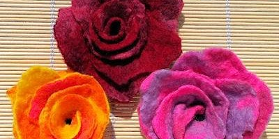 Felting - A Spring Bloom - Beeston Library - Community Learning