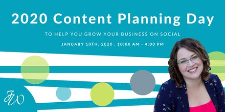 Genuine Social (TM) Content Planning Day tickets