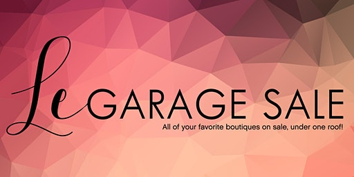 Le Garage Sale - Jan. 25-26, 2020