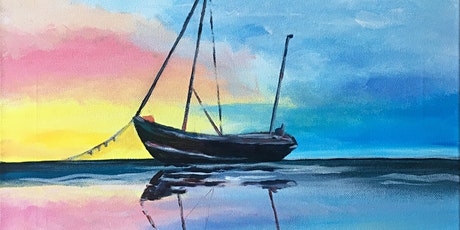 Paint & Sip Party 'Anchored Calm' @ Hare on the Green, Brampton tickets