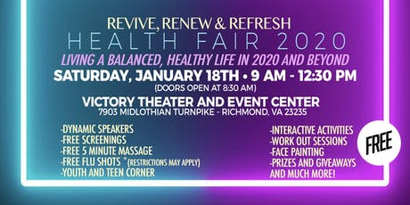 Revive, Renew & Refresh Health Fair 2020 tickets
