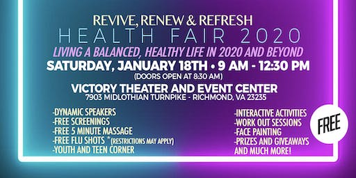 Revive, Renew & Refresh Health Fair 2020