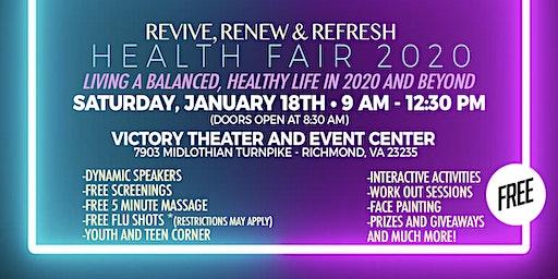 Revive, Renew & Refresh Health Fair 2020