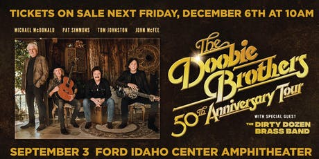 THE DOOBIE BROTHERS 50th ANNIVERSARY TOUR tickets