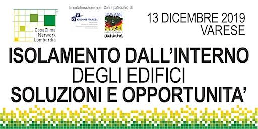 ISOLAMENTO DALL'INTERNO DEGLI EDIFICI: SOLUZIONI E OPPORTUNITA'