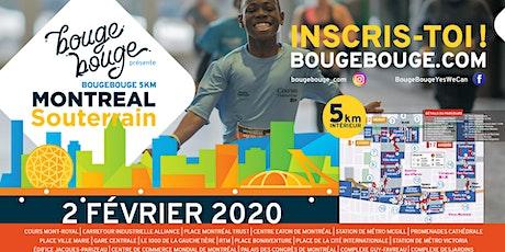 BougeBouge 5km Montréal Souterrain billets