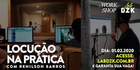Locução na prática  com Renilson Barros ingressos