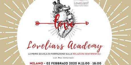 Seminario ♥︎ LOVELIARS ACADEMY • La prima scuola di formazione sull'amore biglietti