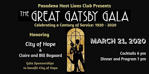 Great Gatsby Gala: Celebrating a Centennial of Service 1920 - 2020