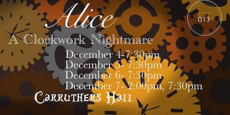 Studio 013 Presents Alice: A Clockwork Nightmare tickets