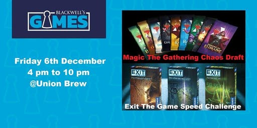 Games Night - Includes MTG Chaos Draft and EXIT: The Game Speed Challenge