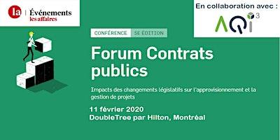 Forum Contrats publics - Événements Les Affaires