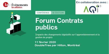 Forum Contrats publics - Événements Les Affaires tickets