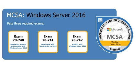 MCSA Server 2016 BOOTCAMP tickets