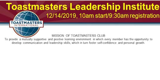 District 23 Toastmasters Albuquerque Toastmaster Learning Institute (TLI)