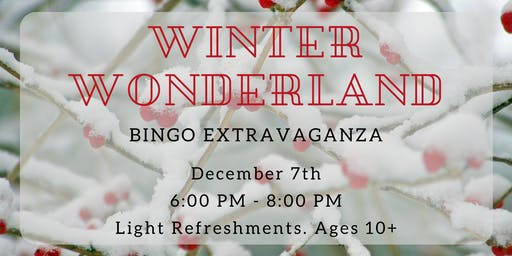 Winter Wonderland BINGO Extravaganza