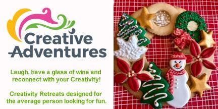 Cookie Wreath Decorating Creative Adventure (Wine & Nibbles  included)