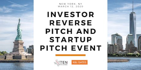 New York: TEN Capital Investor Reverse Pitch & Startup Pitch tickets