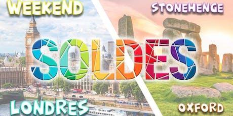 Week-end exceptionnel à Londres (soldes) + Stonehenge & Oxford billets