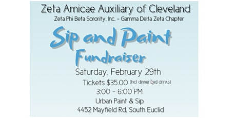 Zeta Amicae Of Cleveland's Paint & Sip Fundraiser tickets