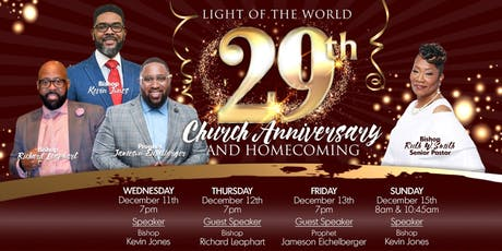 Light of the World's 29th Anniversary & Homecoming tickets
