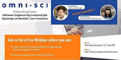 Career Opportunity: Software Engineer Front End job @ OmniSci San Francisco