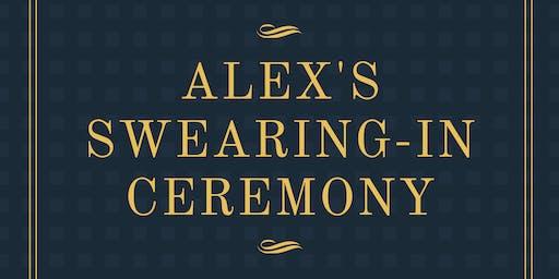 Alex's Swearing-In Ceremony