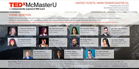 TEDxMcMasterU tickets