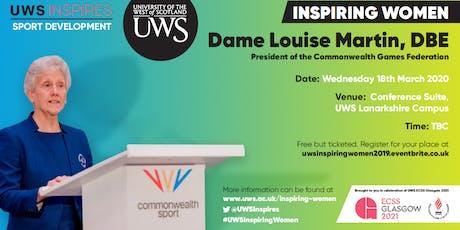 UWS Inspiring Women: Dame Louise Martin tickets