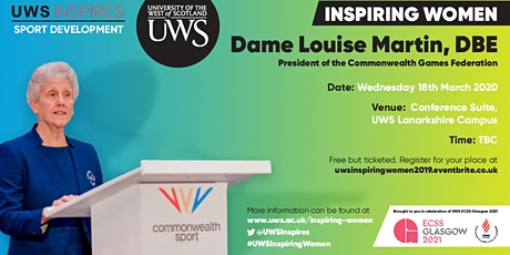 UWS Inspiring Women: Dame Louise Martin tickets