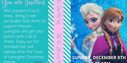 RRG presents Elsa & Anna-Town Lexington Christmas Parade